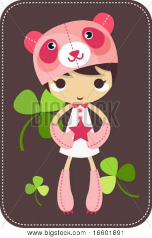 cute cap cartoon character