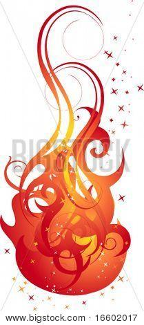 creative curve fire background