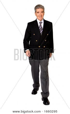 Business Male Senior Walking