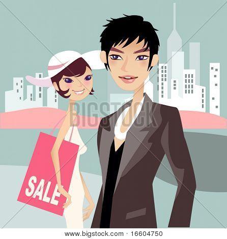 city shopping series