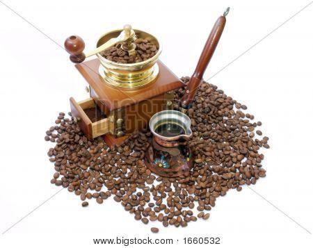Turkish Coffee And Coffee-Grinder