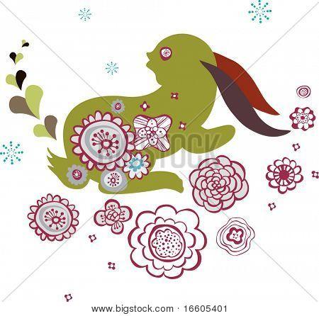 cute little bunny design