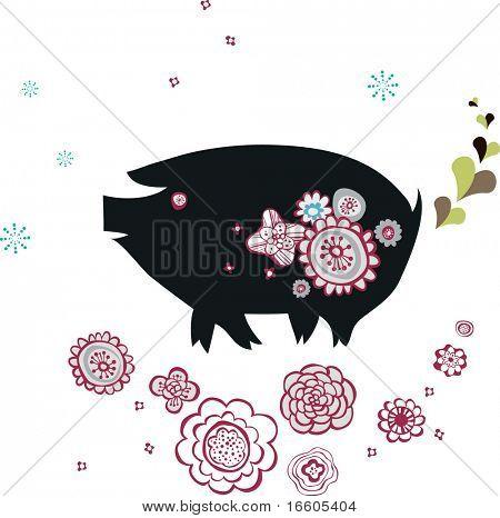 cute little pig design