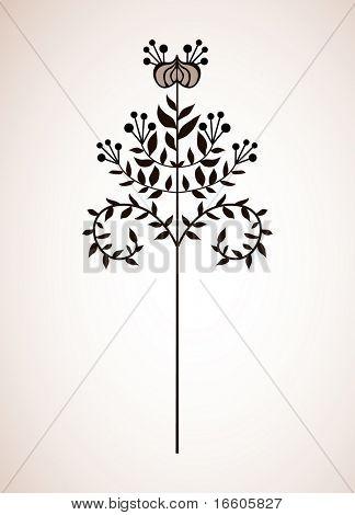simple japanese flora design