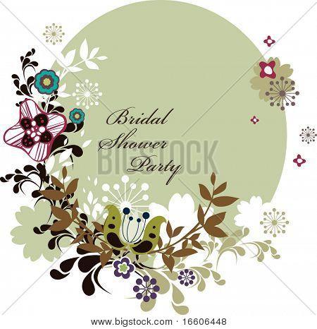 Brautdusche Partei Einladungskarte