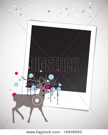 x'mas decorated photo template