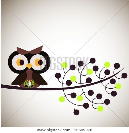 little owl in tree