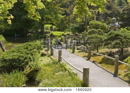 die japanische Teegarten Gehweg