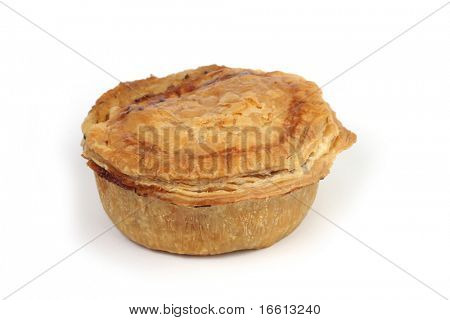 Isolated Aussie meat pie