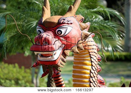 Chinese dragon statue in Macau China