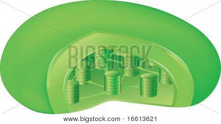 chloroplast plant component illustration in high detail