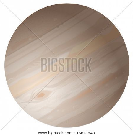 Jupiter Planet High Detailed Illustration