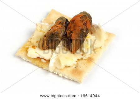 Isolated hors d'oeuvre on white background