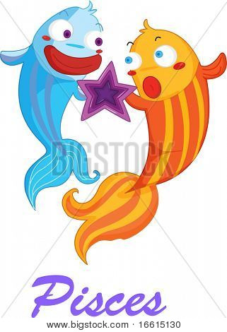 Illustration of the star sign pisces
