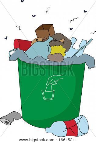 rubbish trash illustration of a white background