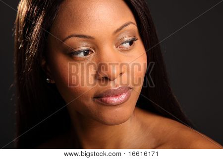 Beautiful serene black woman