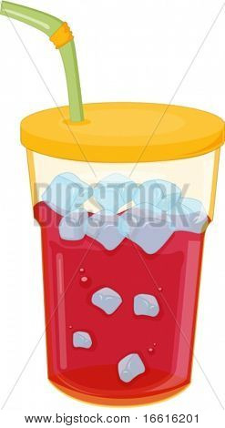 raspberry ice crush in beaker