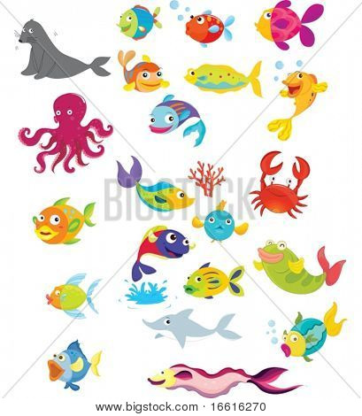 Illustration of life under the sea