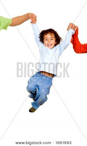 Child Having Fun With His Parents