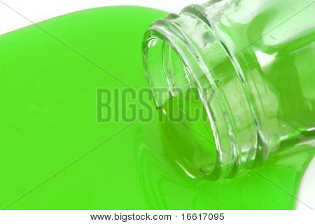 a macro photo of spilt liquid