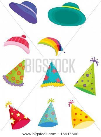 una ilustración de sombreros surtidos para diferentes ocasiones