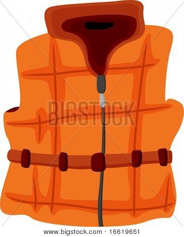illustration of a warm sleeveless vest