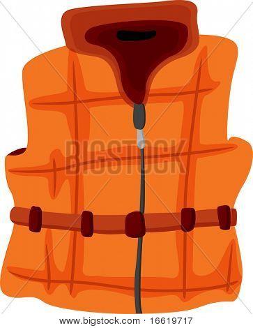 illustration of a warm sleeveless vest