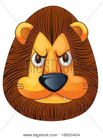angry lion face illustration