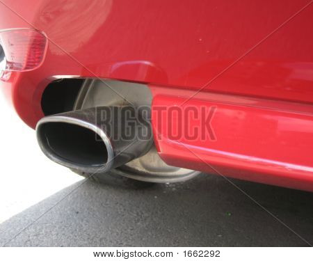 Pipe Of A Read Car