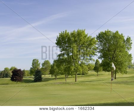 Spring Day At Golf Course