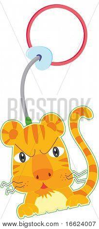 illustration of tiger on white