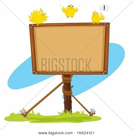 illustration of notice board on white