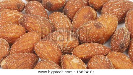 almendras tostadas marrón amarillos