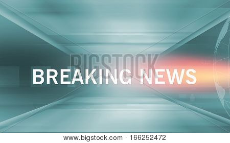 Graphical Breaking News Background With Text Orange Theme White