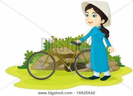 vietnamese girl (vector available in portfolio)