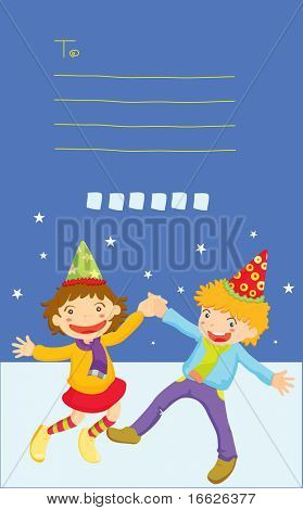 party kids (vector image also available in portfolio)