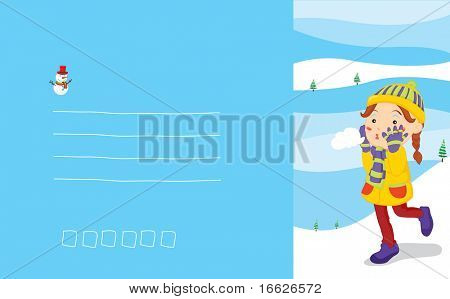 postcard from snow (vector illustration available in portfolio)