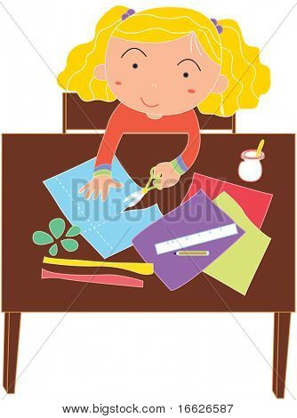 schoolwork time (vector illustration available in portfolio)
