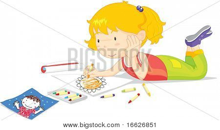 working girl (vector illustration available in portfolio)