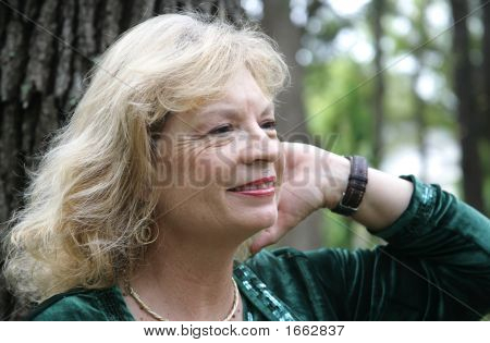 Mature Blond In Park