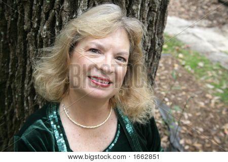 Portrait Of Mature Blond