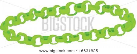 illustration of green chain on white