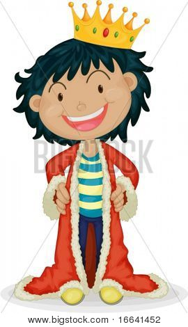 Illustration of boy wearing jacket on a white background