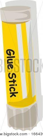 Illustration of a glue stick on a white background