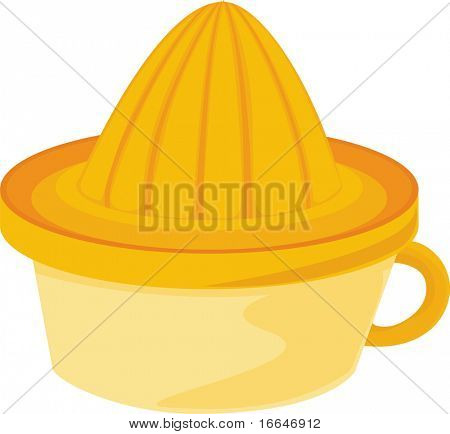 Illustration of A Juice Extractor on white background