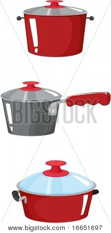 illustration of kitchenware on a white background