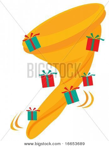 illustration of santaclause stocking on a white background