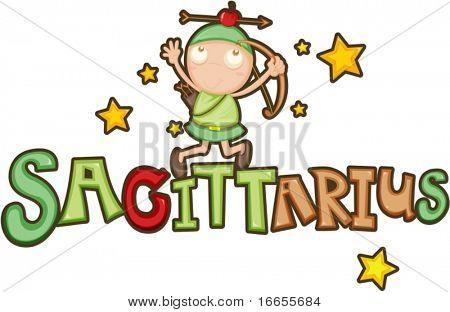 illustration of Zodiac sign Sagittarius on a white background