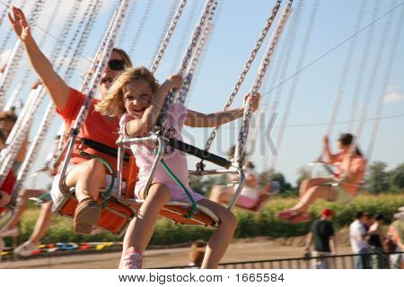 Amusement Park Swings