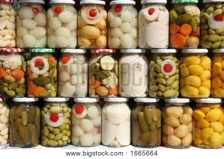 Jars Of Vegetables
